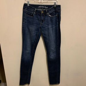 Blue American Eagle low waist skinny jeans